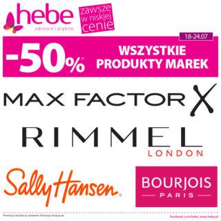 12d83b4659060b -50% WSZYSTKIE PRODUKTY MAREK Max Factor, Rimmel London, Sally Hansen,  Bourjois w Hebe